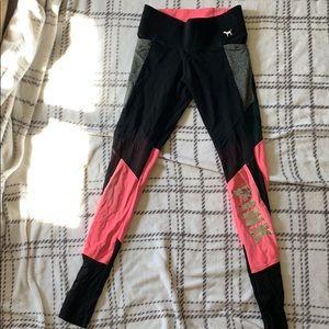 Plain pink tee and P!NK leggings combo